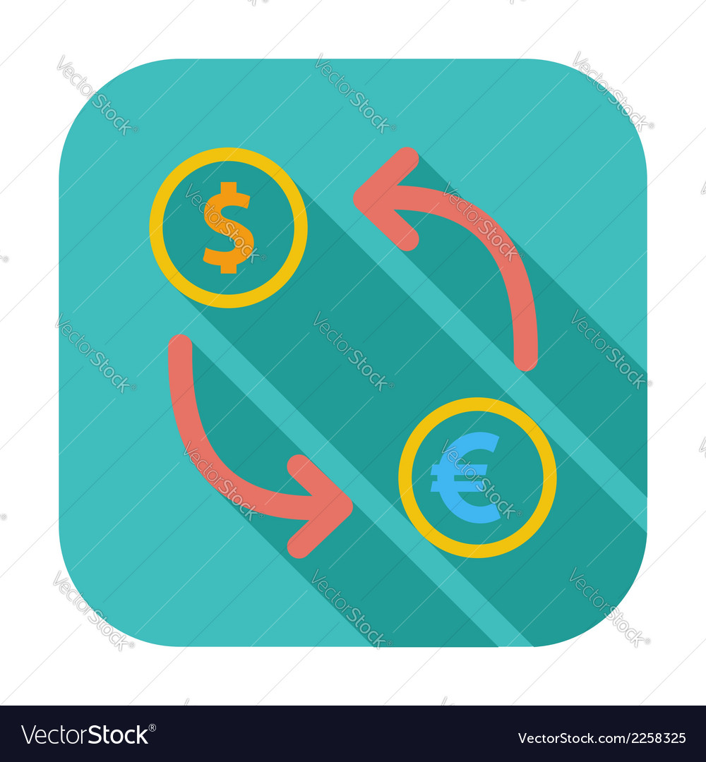 Currency exchange single flat icon vector   Price: 1 Credit (USD $1)