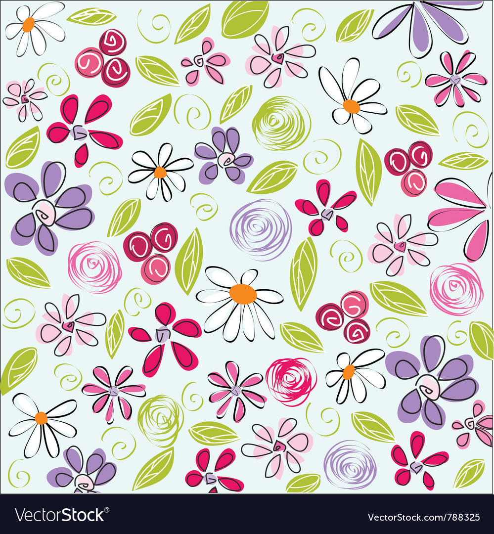 Floral background easter vector | Price: 1 Credit (USD $1)
