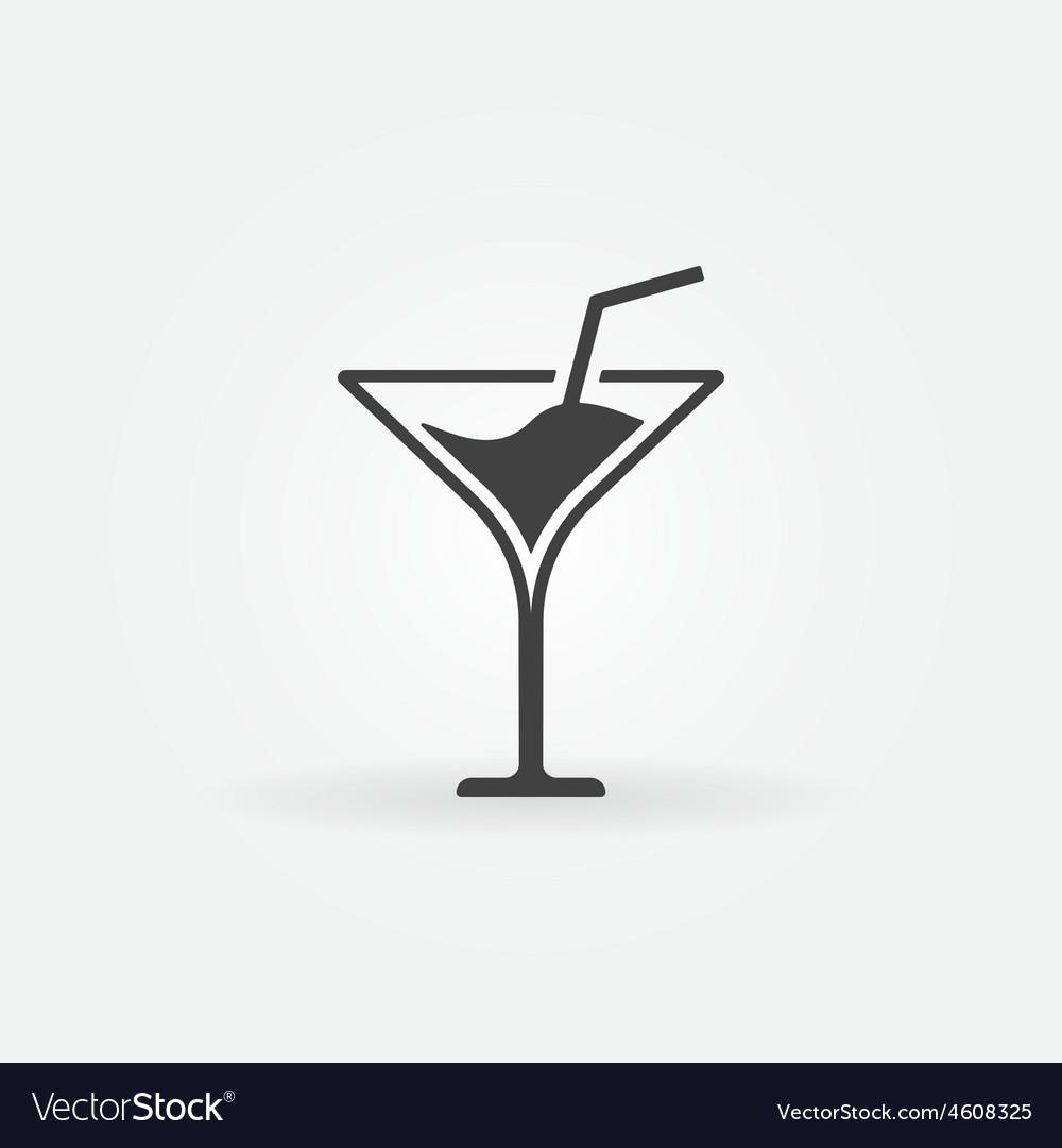 Martini icon or logo vector | Price: 1 Credit (USD $1)