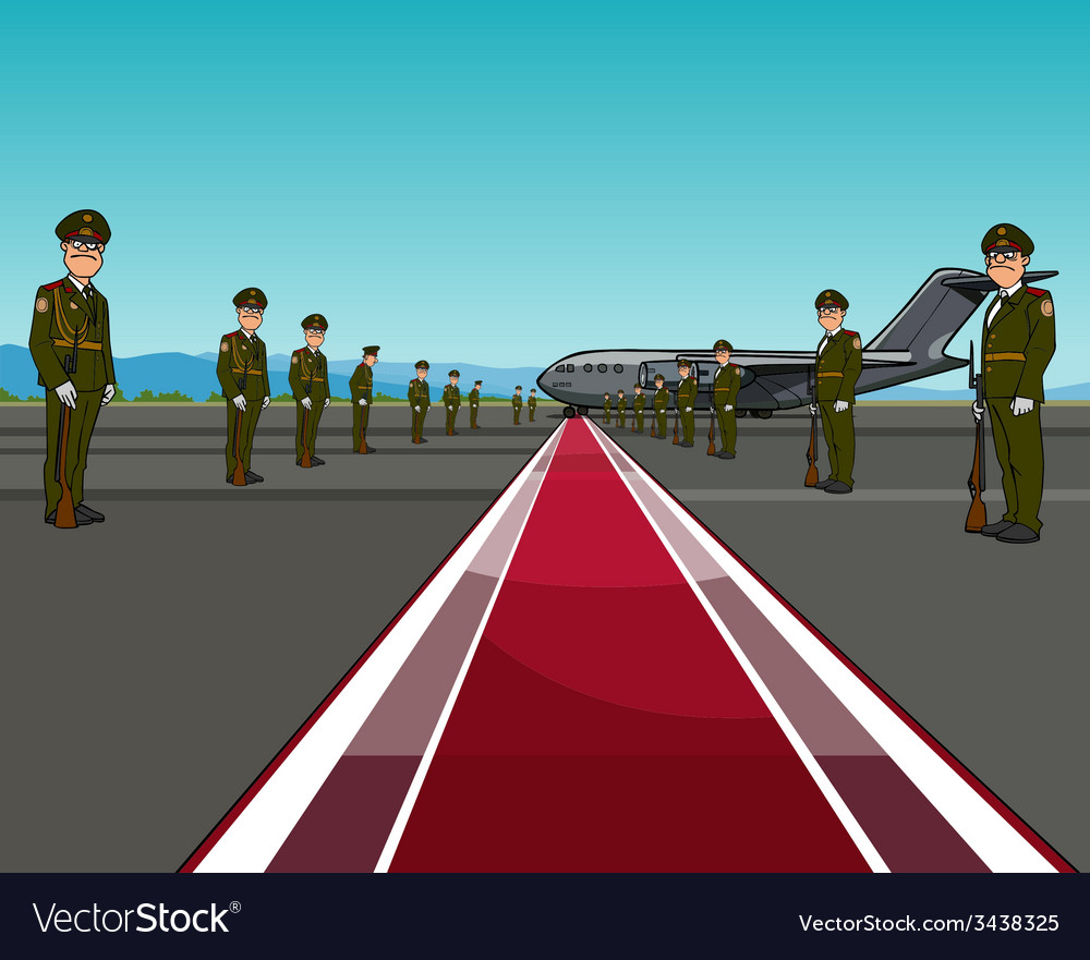 Men in uniform standing on opposite sides of the vector | Price: 1 Credit (USD $1)