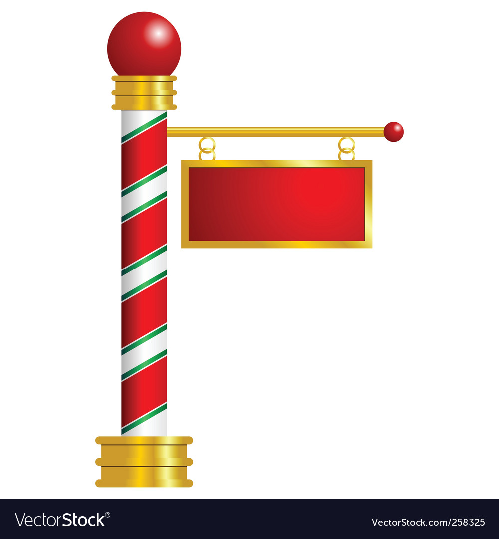 North pole sign vector | Price: 1 Credit (USD $1)