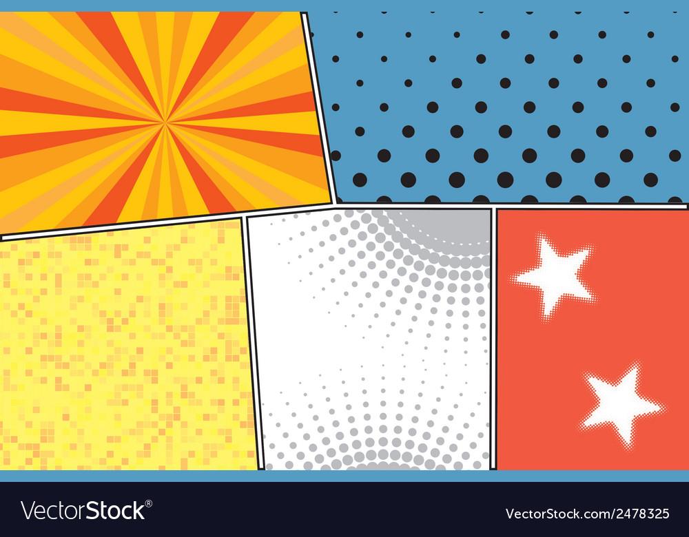 Pop art style blank vector | Price: 1 Credit (USD $1)