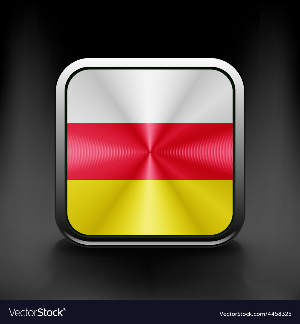 South ossetia icon flag national travel icon vector | Price: 1 Credit (USD $1)
