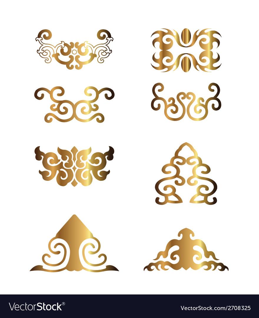 Vintage floral elements for your design vector | Price: 1 Credit (USD $1)