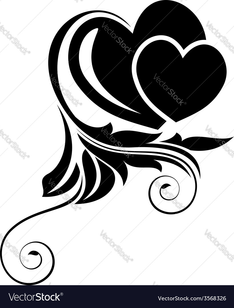 Black floral design element vector | Price: 1 Credit (USD $1)