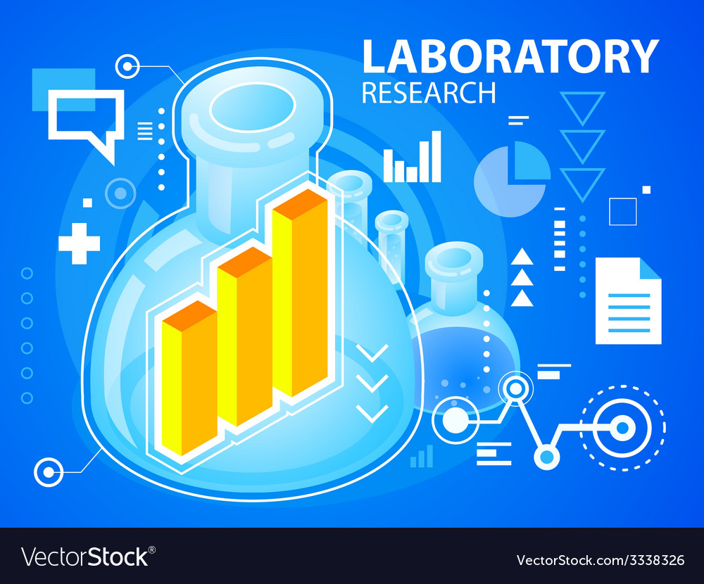 Bright laboratory research and bar chart on vector | Price: 3 Credit (USD $3)