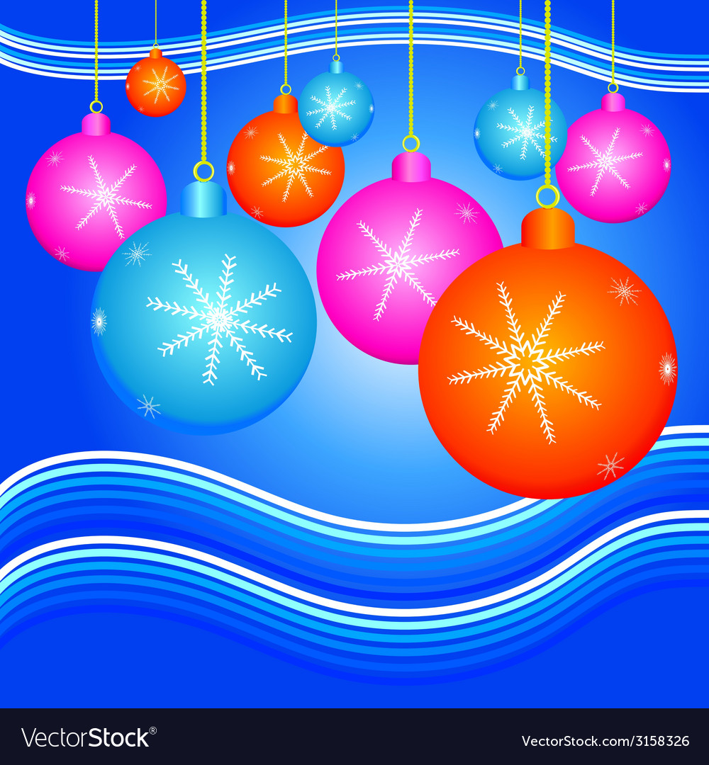 Christmas background with decorate ball vector | Price: 1 Credit (USD $1)