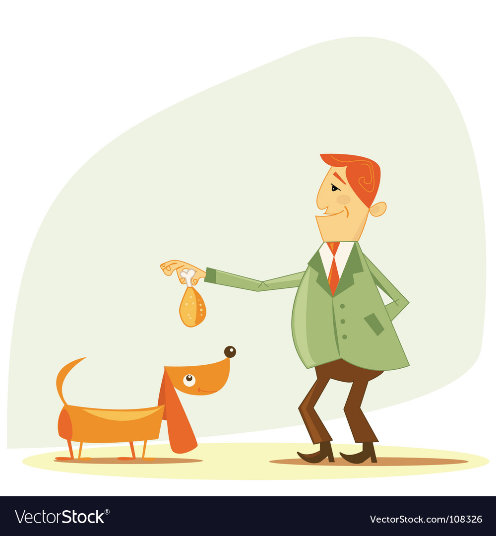 Dog owner vector | Price: 1 Credit (USD $1)