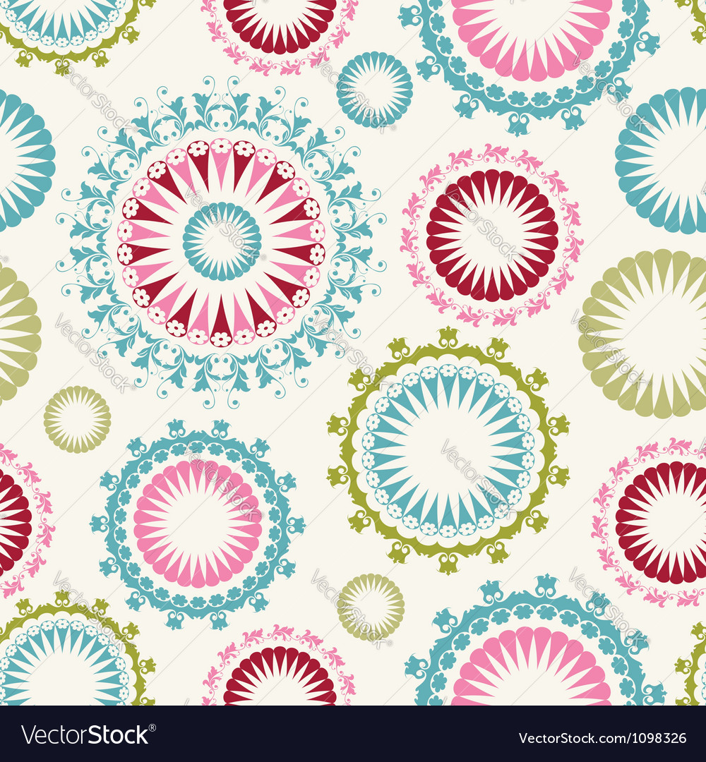 Floral background seamless pattern vector | Price: 1 Credit (USD $1)