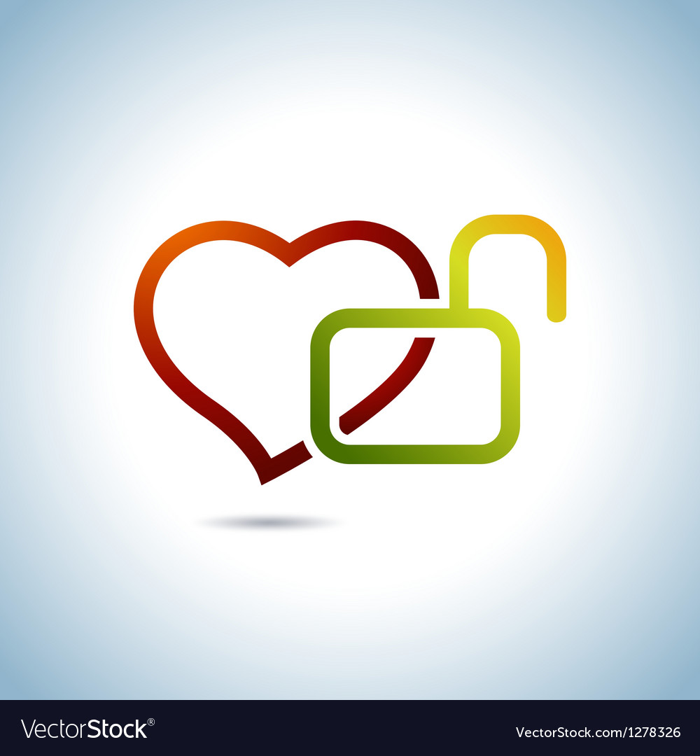Heart and key vector | Price: 1 Credit (USD $1)