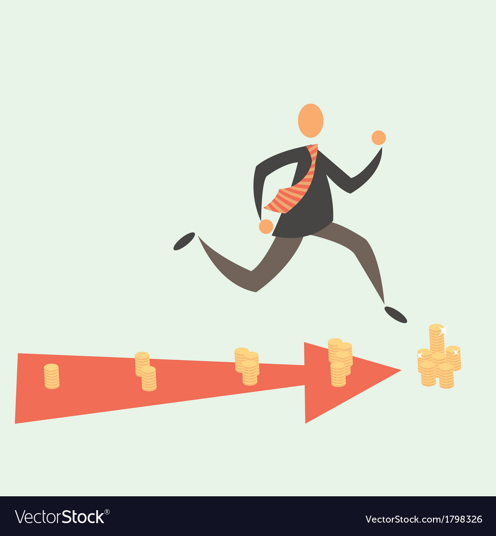 Running for money vector | Price: 1 Credit (USD $1)