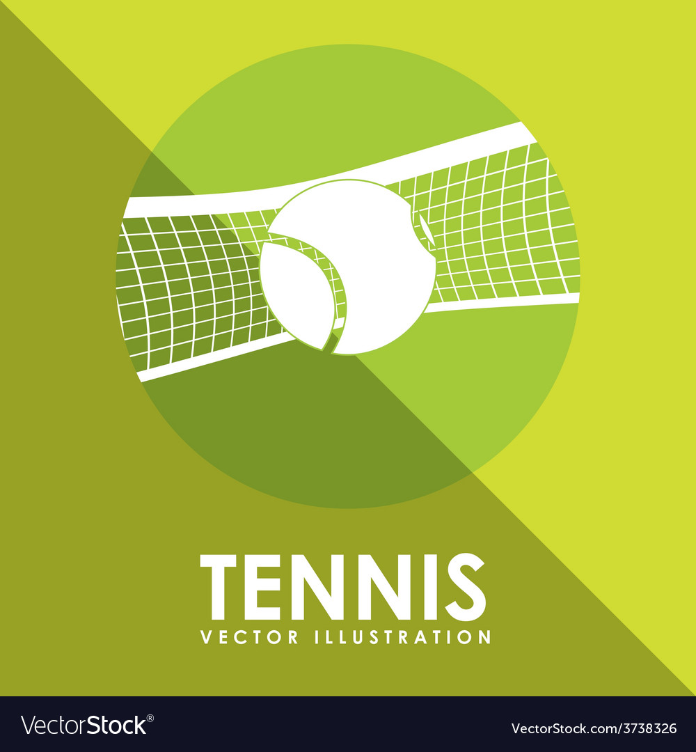 Tennis game design vector | Price: 1 Credit (USD $1)