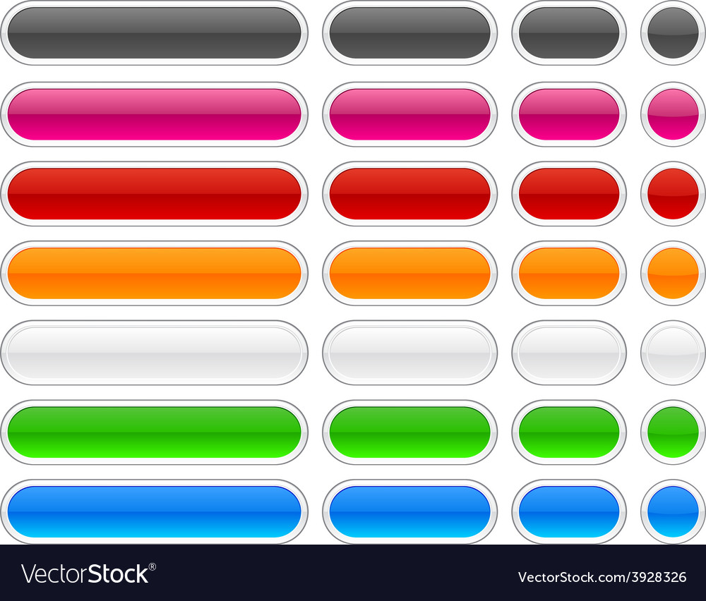 Web blank glossy buttons vector | Price: 1 Credit (USD $1)