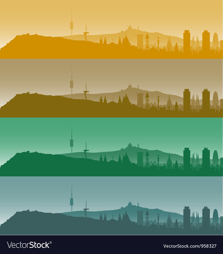 Barcelona skyline vector | Price: 1 Credit (USD $1)
