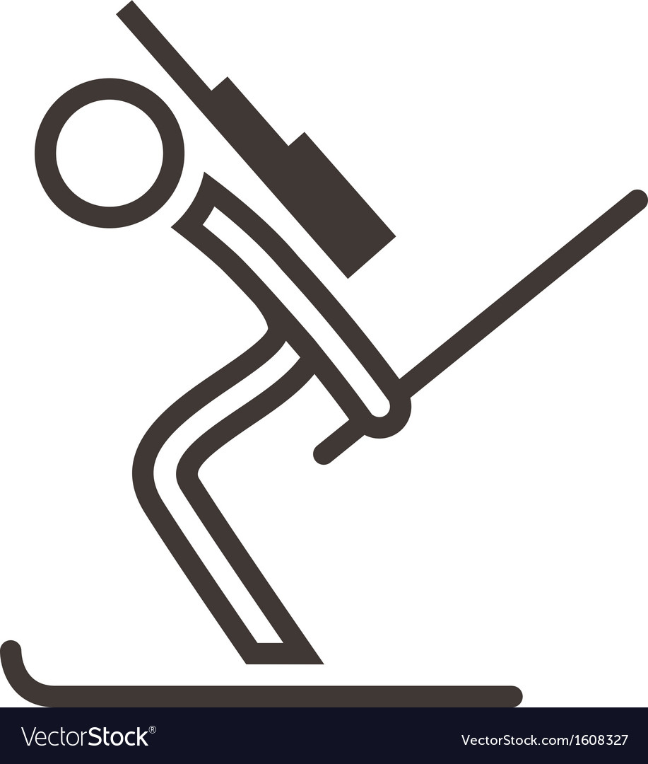 Biatlon icon vector   Price: 1 Credit (USD $1)