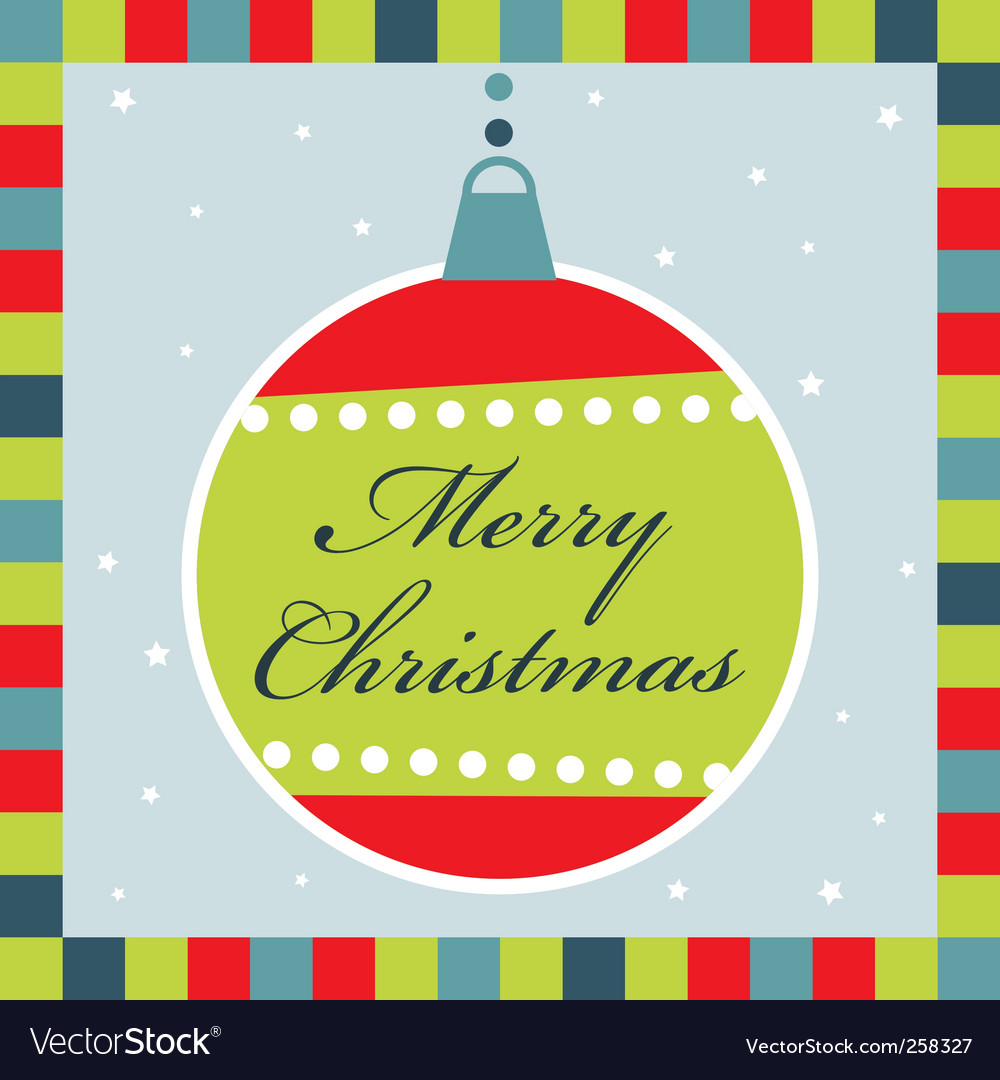 Christmas decoration greeting card vector | Price: 1 Credit (USD $1)