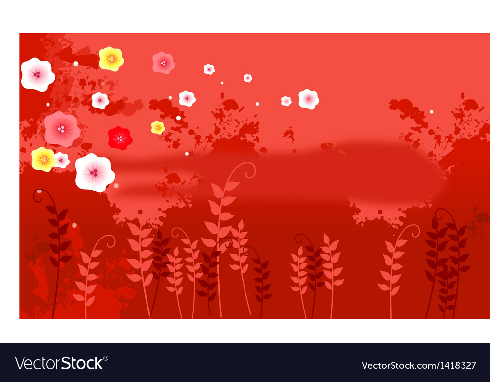 Flora background vector | Price: 1 Credit (USD $1)