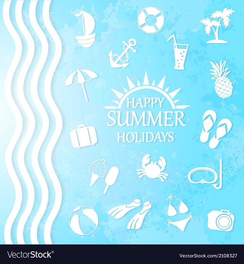 Happy summer holiday vector | Price: 1 Credit (USD $1)