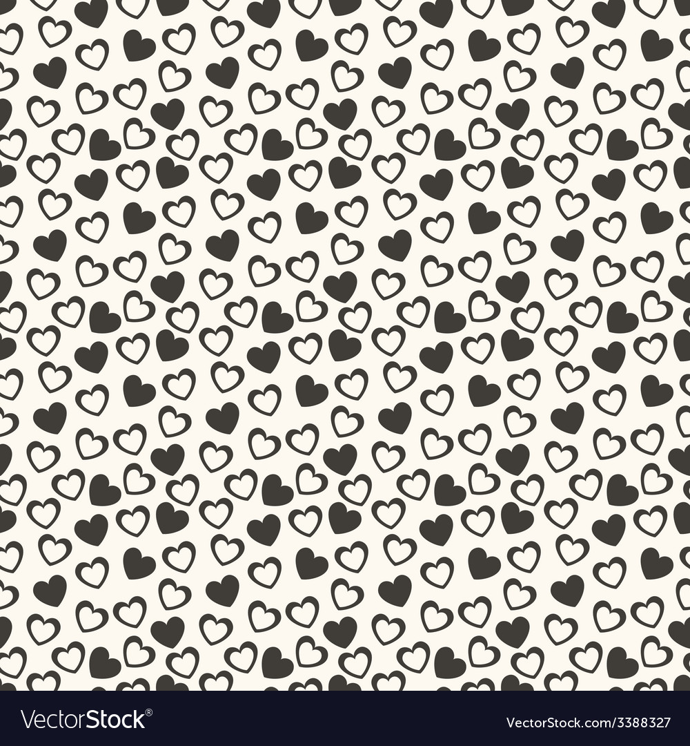 Heart shape seamless pattern vector | Price: 1 Credit (USD $1)