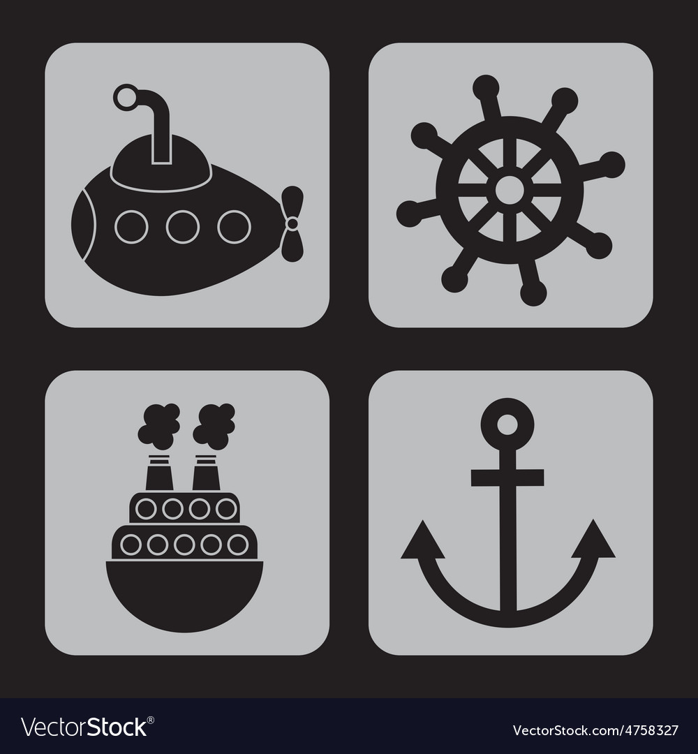 Maritime icons vector | Price: 1 Credit (USD $1)
