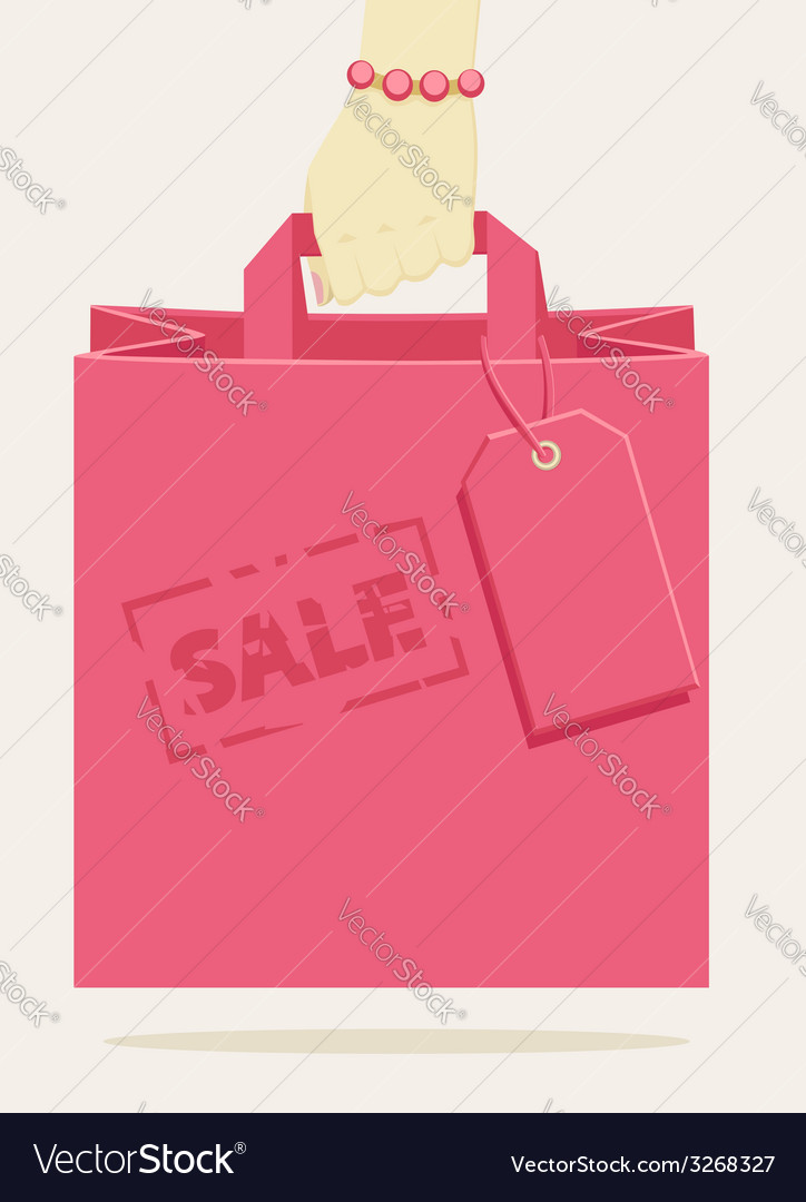 Retail shopping bag stamped as a promotional sale vector | Price: 1 Credit (USD $1)