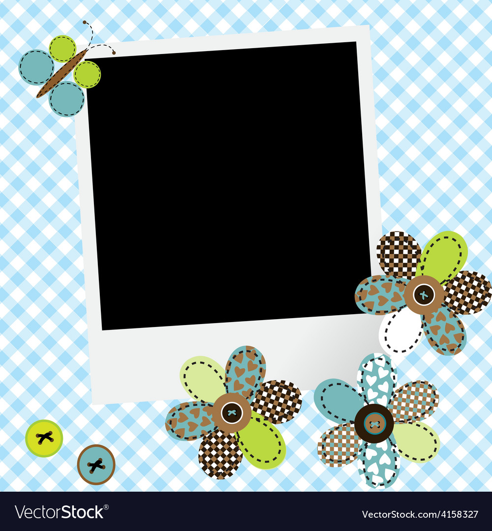 Scrapbook baby boy design with photo frame and vector   Price: 1 Credit (USD $1)