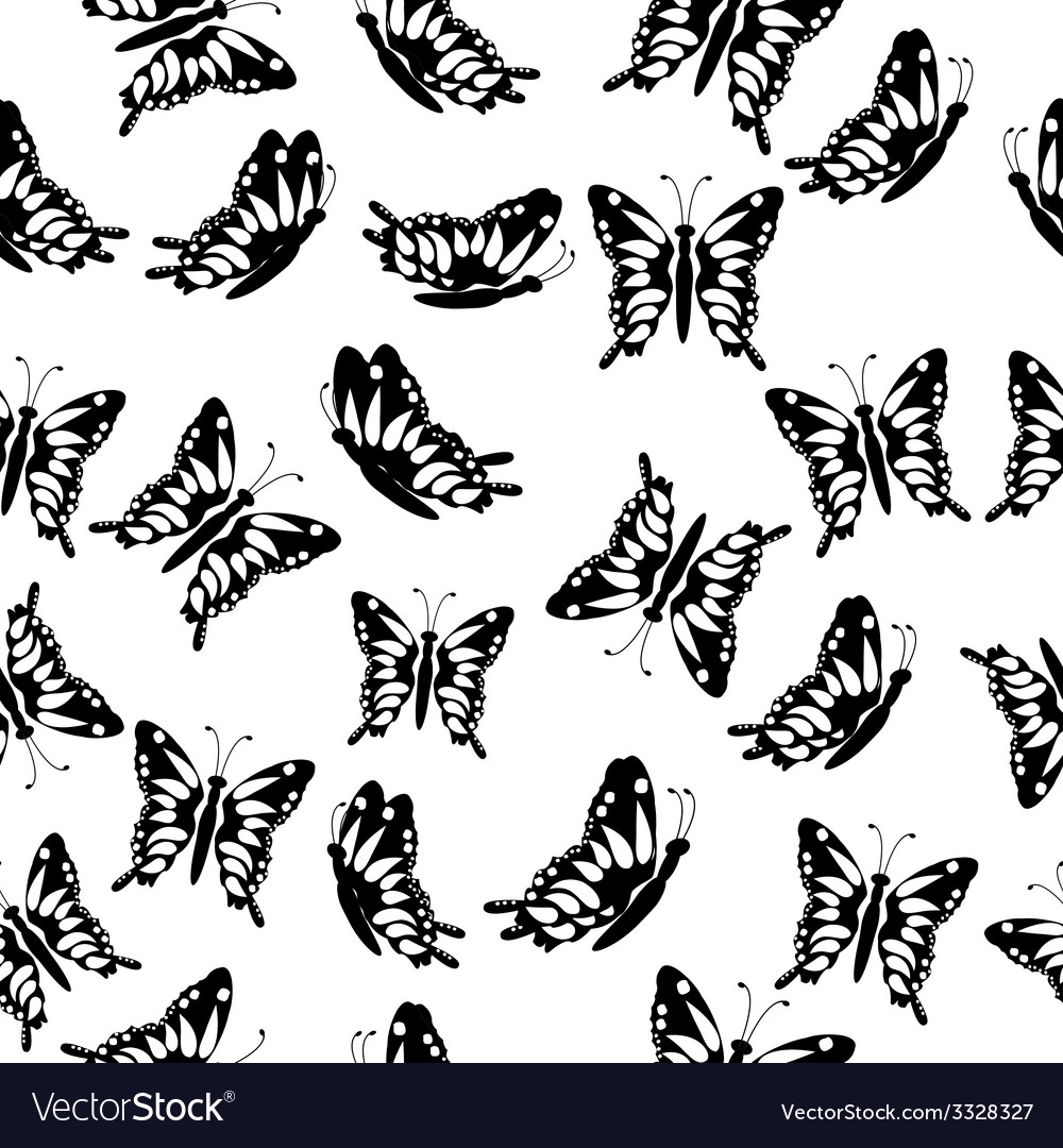 Seamless with butterflies vector | Price: 1 Credit (USD $1)