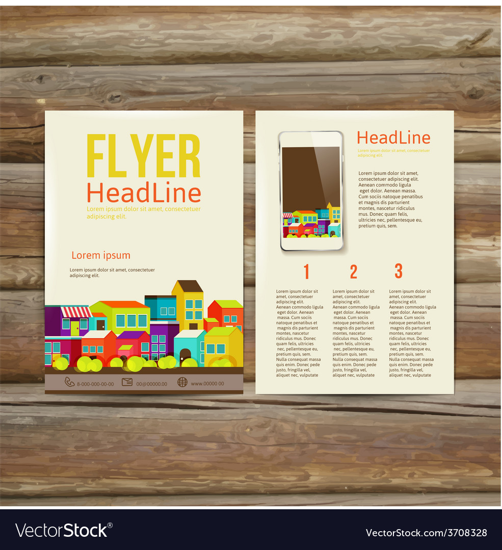 Abstract brochure flyer design template vector | Price: 1 Credit (USD $1)