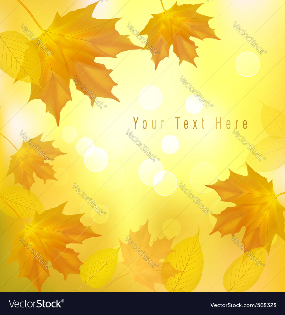Autumn background with yellow leavers vector | Price: 1 Credit (USD $1)