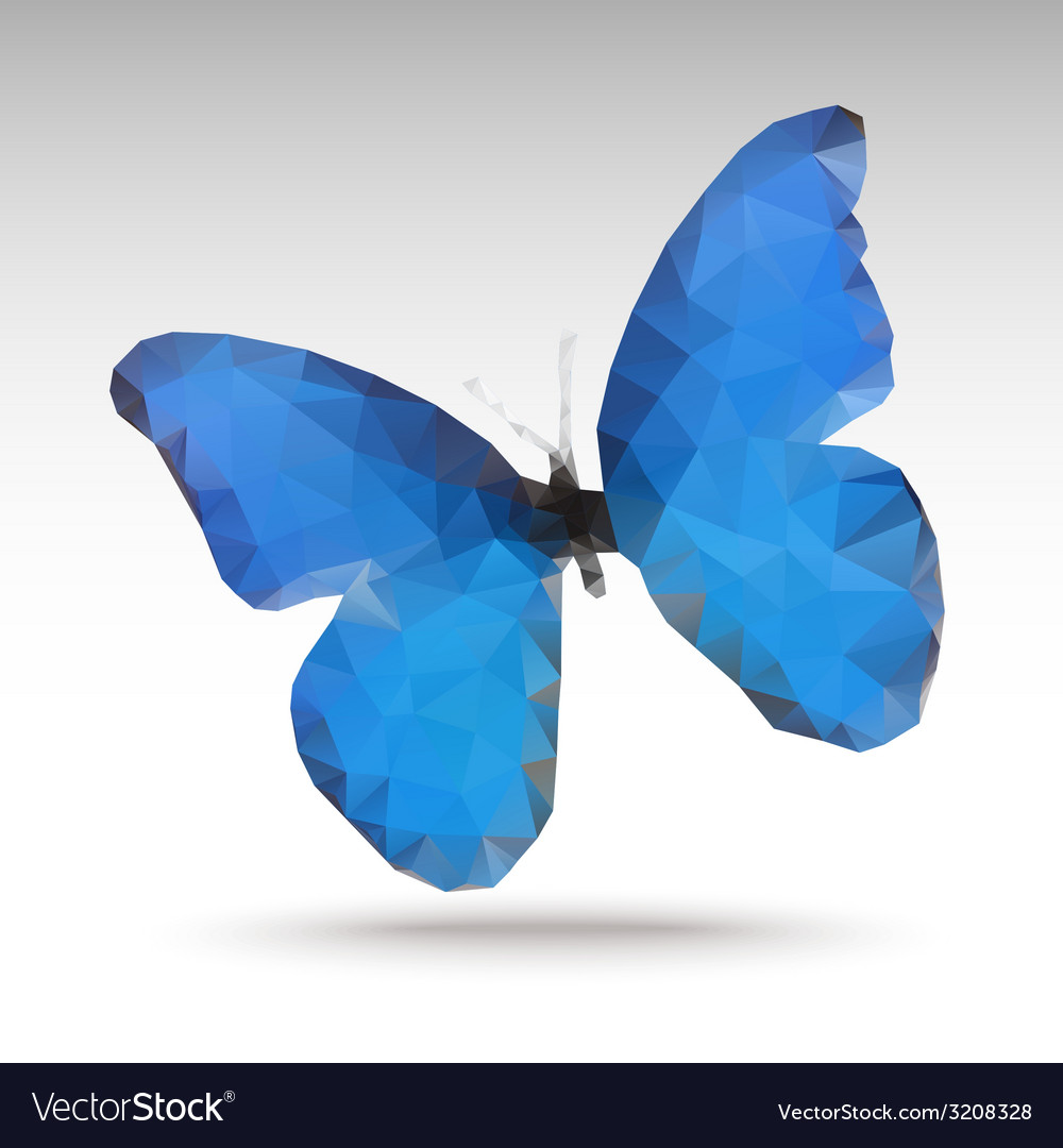 Bluebutterfly vector | Price: 1 Credit (USD $1)