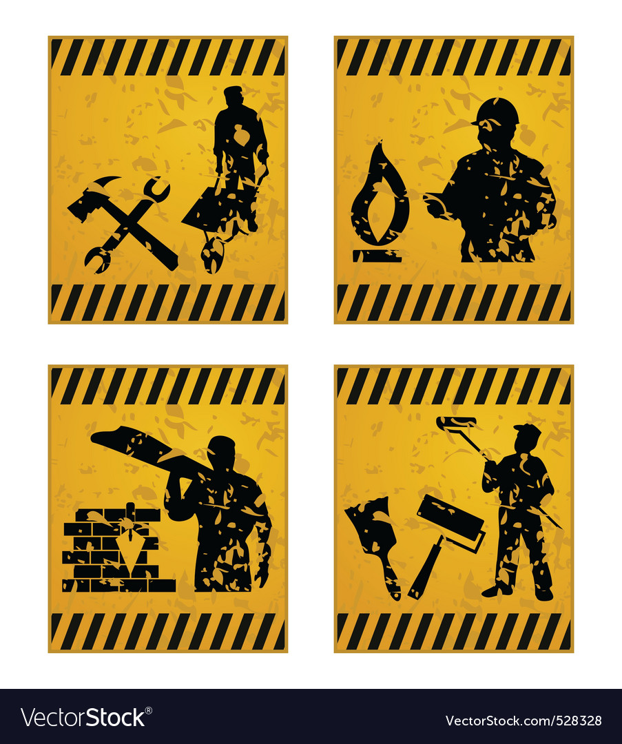 Construction signs vector | Price: 1 Credit (USD $1)