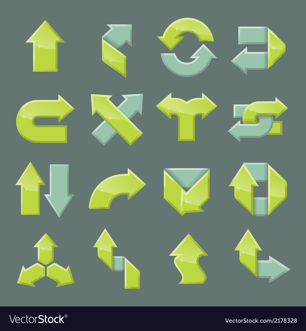 Design set of modern arrow vector | Price: 1 Credit (USD $1)