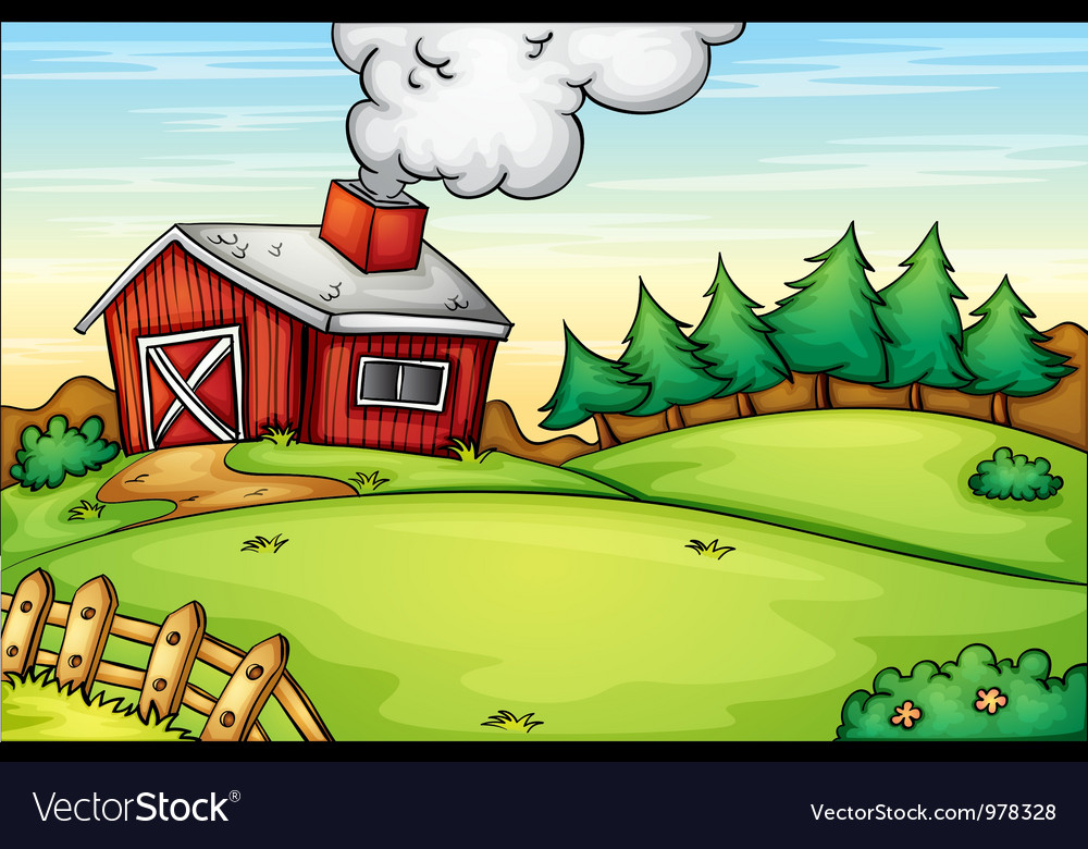 Farm background vector | Price: 3 Credit (USD $3)