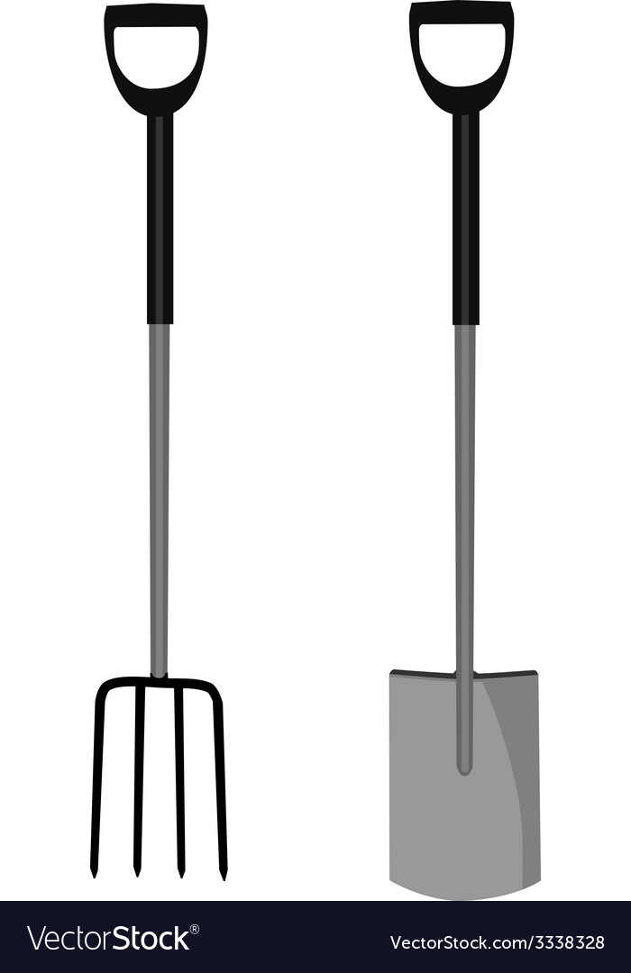 Garden fork and shovel vector | Price: 1 Credit (USD $1)