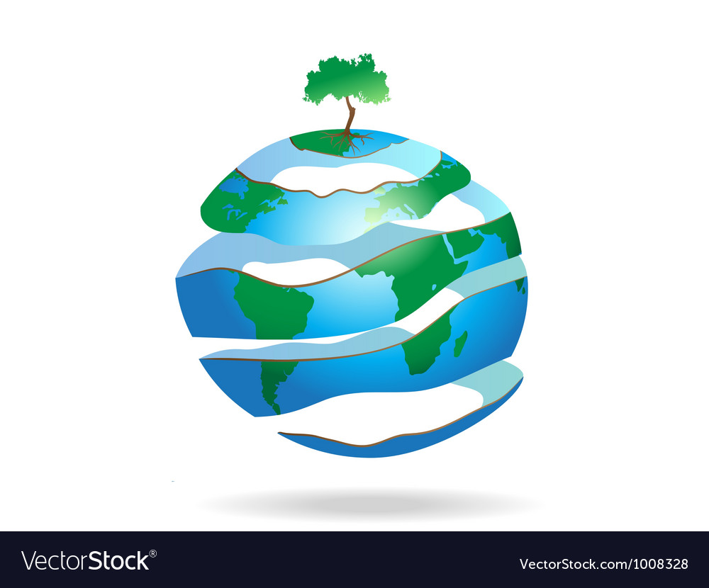 Peeled earth vector | Price: 1 Credit (USD $1)