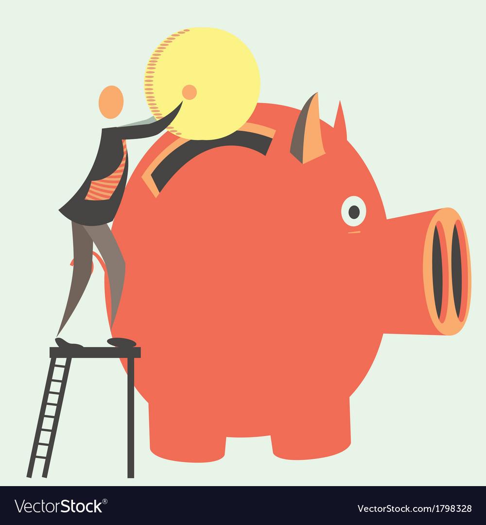 Savings vector | Price: 1 Credit (USD $1)