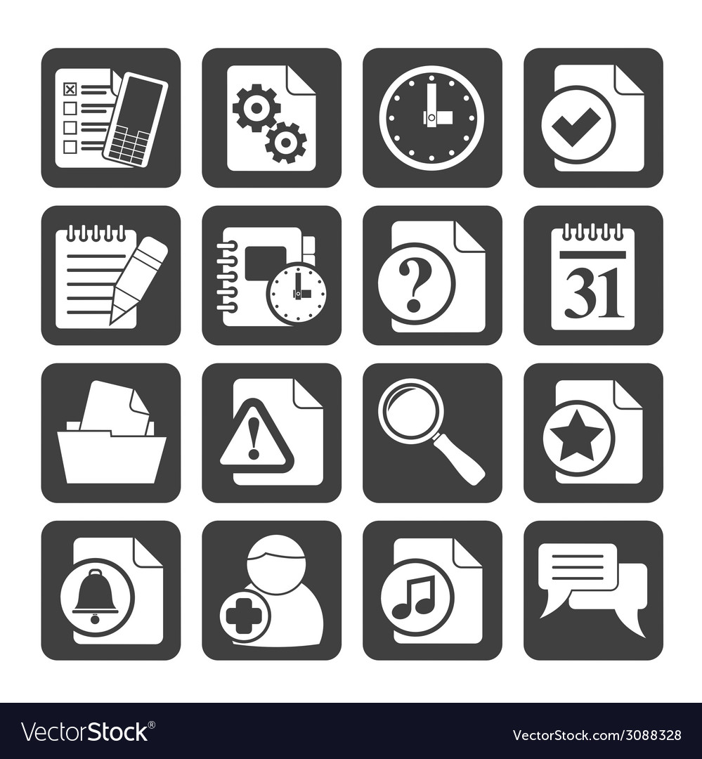 Silhouette communication and connection icons vector | Price: 1 Credit (USD $1)