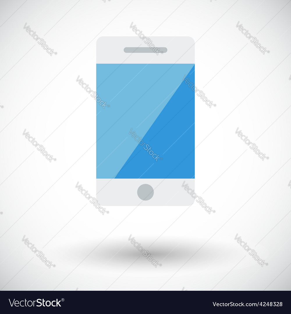 Smartphone single icon vector | Price: 1 Credit (USD $1)