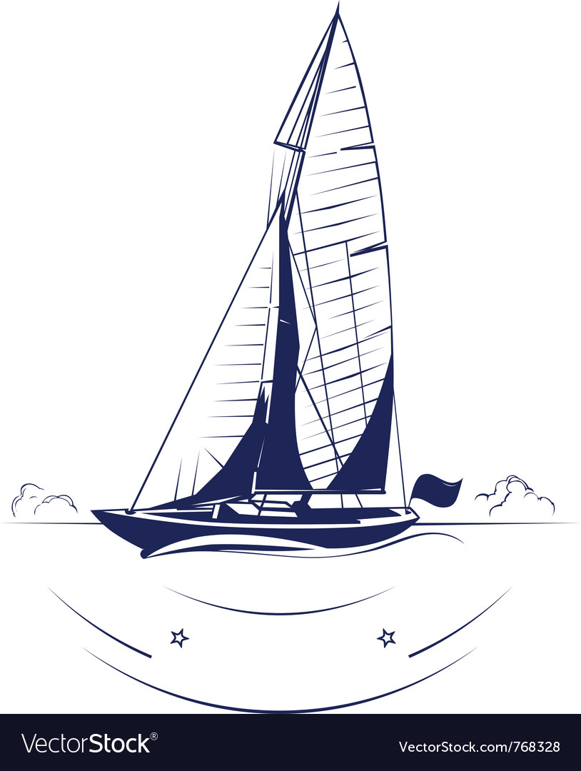 Speed yacht insignia vector | Price: 1 Credit (USD $1)