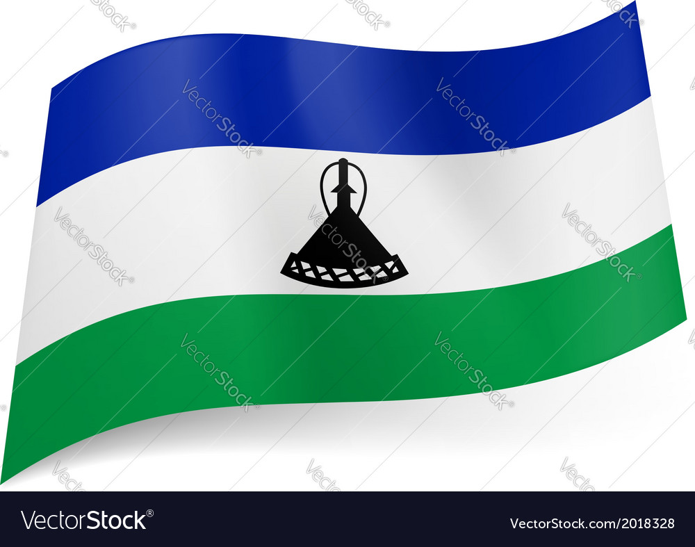 State flag of lesotho vector | Price: 1 Credit (USD $1)