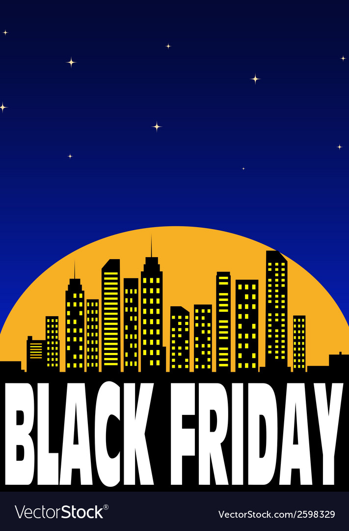 Black friday background vector | Price: 1 Credit (USD $1)