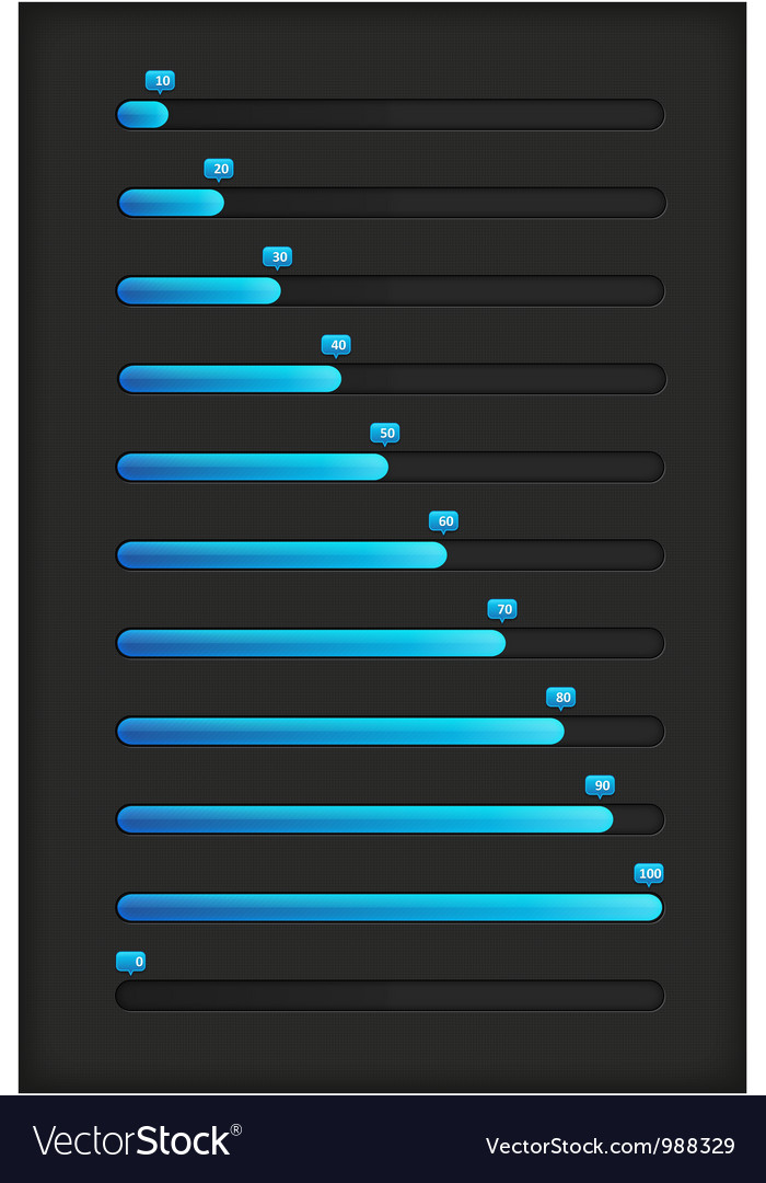 Blue progress bar vector | Price: 1 Credit (USD $1)