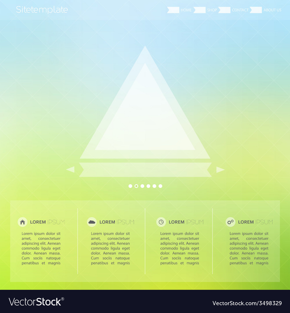 Bright interface for the web and mobile site vector | Price: 1 Credit (USD $1)