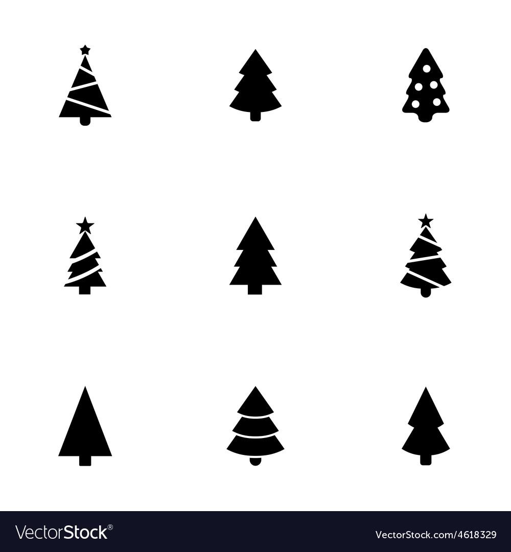 Christmas tree icons set vector | Price: 1 Credit (USD $1)