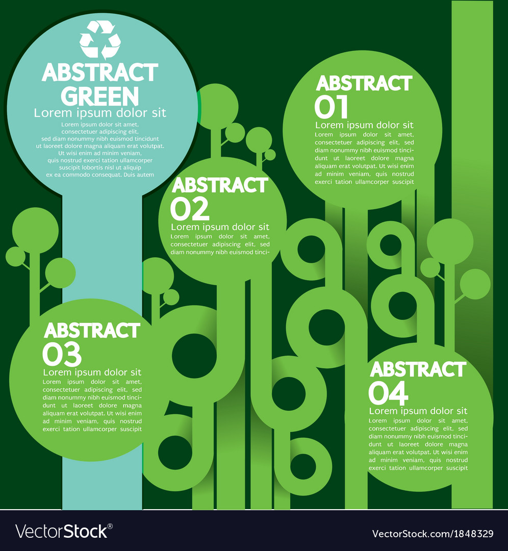 Green concept infographics vector | Price: 1 Credit (USD $1)