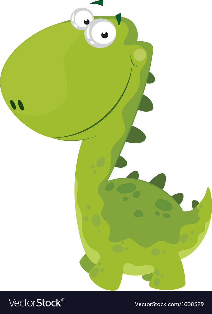 Green smiling dino vector | Price: 1 Credit (USD $1)