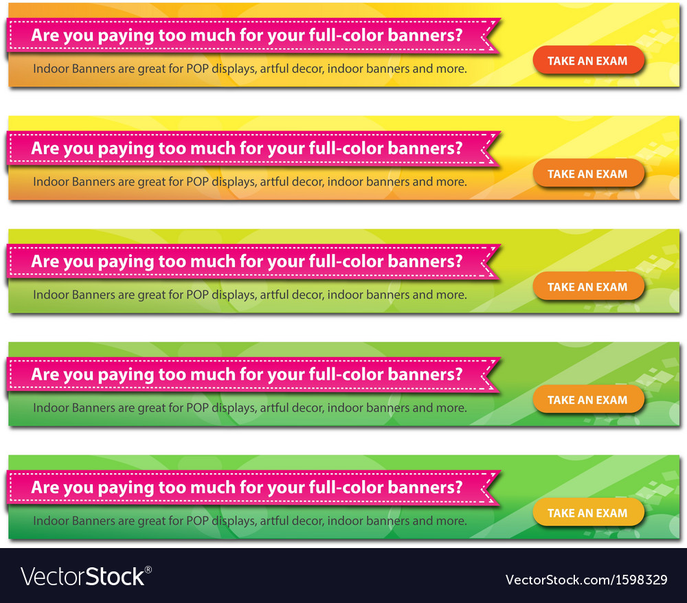 Horizontal abstract web banner vector | Price: 1 Credit (USD $1)