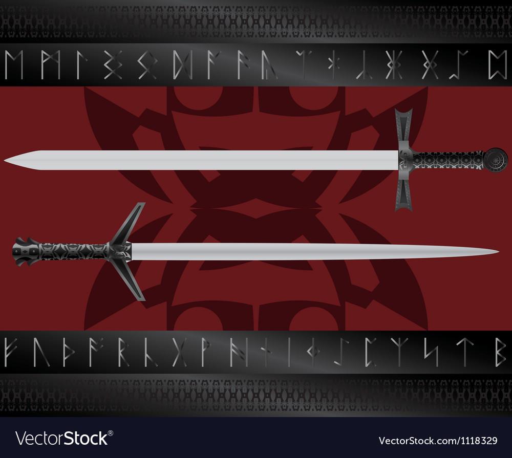 Magic swords vector | Price: 1 Credit (USD $1)