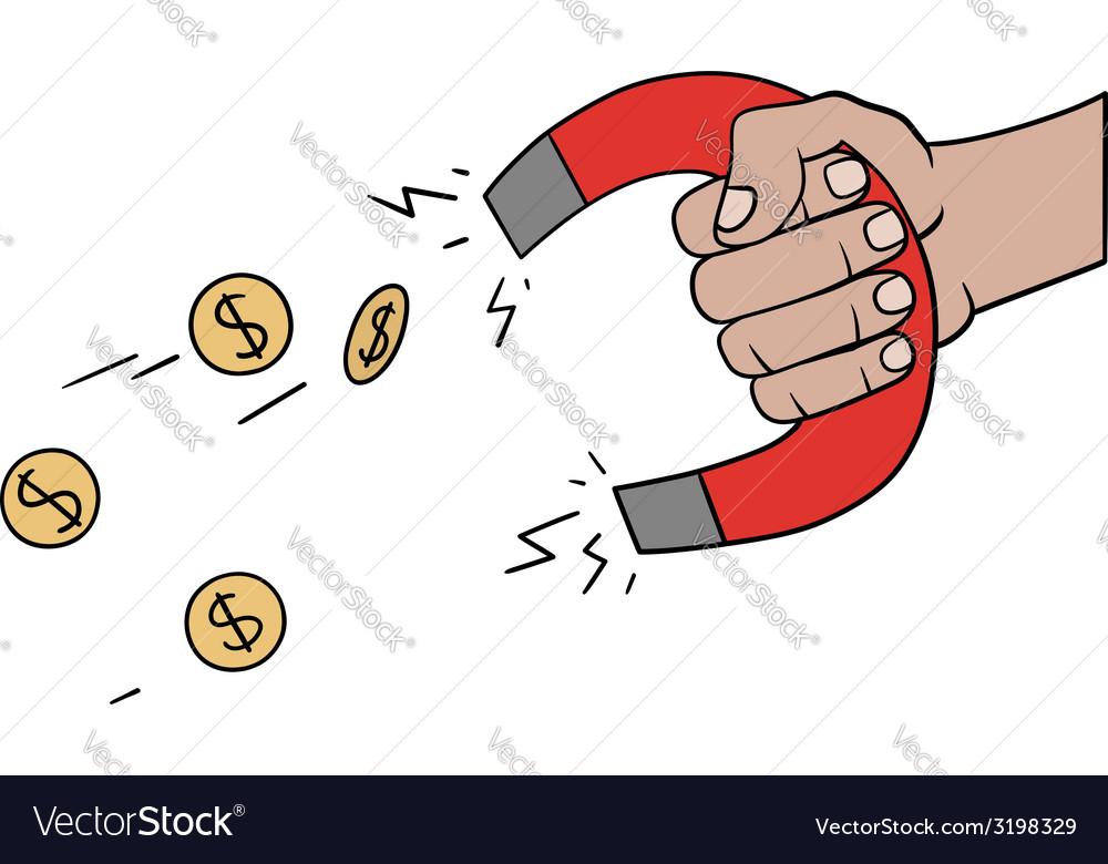 Money magnet vector | Price: 1 Credit (USD $1)