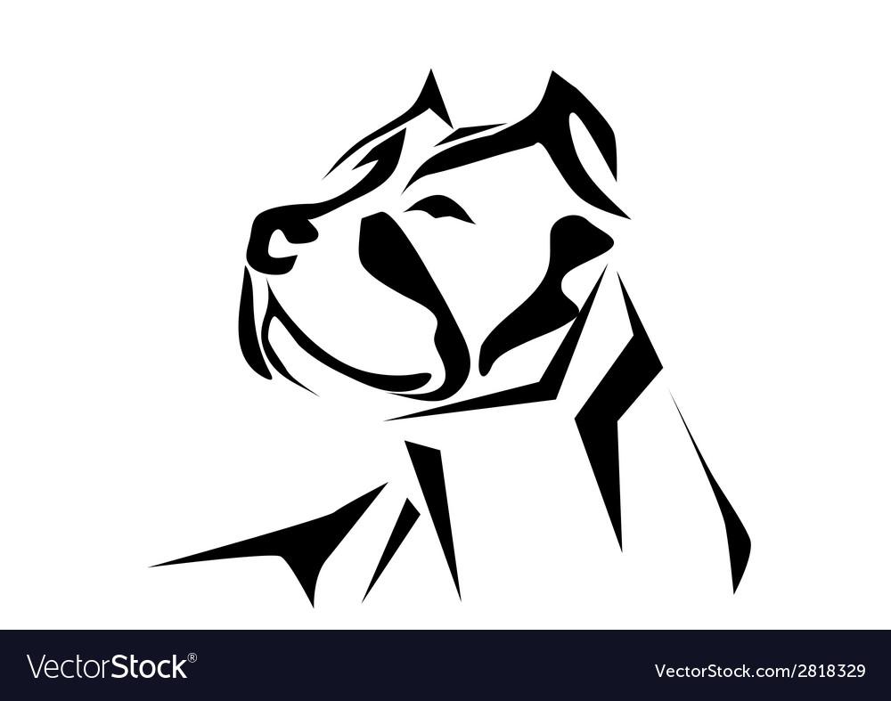 Pitbull vector | Price: 1 Credit (USD $1)